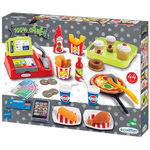 Žaislinis greito maisto rinkinys Ecoiffier + priedai