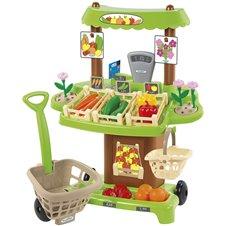 Žaislinė daržovių parduotuvė Ecoiffier  35 priedai