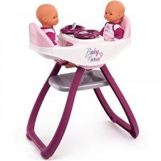 Lėlių dvinukų maitinimo kėdutė Smoby  Baby Nurse