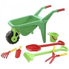Sodininko vežimėlis su įrankiais