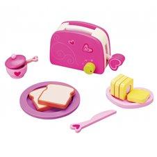 Žaislinis skrudintuvas ir pusryčių rinkinys Classic World