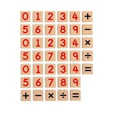 Medinių magnetinių skaičių 40 elementų rinkinys VIGA