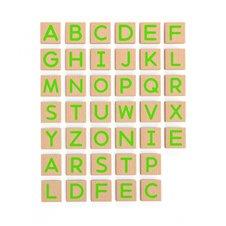 Medinių magnetinių raidžių 40 elementų rinkinys VIGA didžiosios