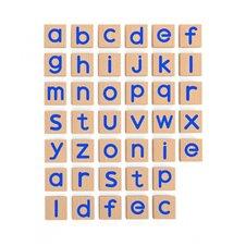 Medinių magnetinių raidžių 40 elementų rinkinys VIGA mažosios