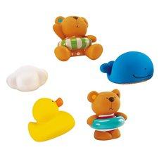 Vonios žaislų rinkinys HAPE Tedis ir draugai, E0201