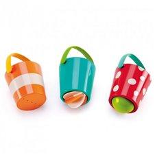 Vonios žaislų rinkinys HAPE Linksmieji kibirėliai, E0205
