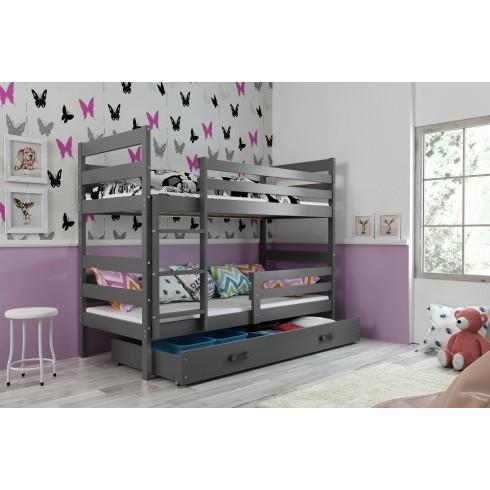 Dviaukštė lova ERIKAS 160*80 su stalčiumi