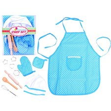A set of apron for chef's rolling pin hat glove akce ZA2817