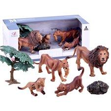 Animal set Figures Lion Tiger Leopard ZA2990