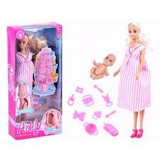 Anlily Doll pregnant mom Newborn baby accessory ZA2810