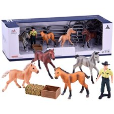 A set of figurines of horse farm ZA2993