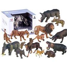 Animals FIGURES Zebra Elf Lions Buffalo ZA2218