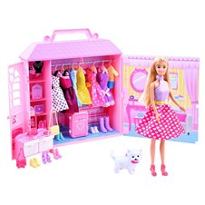 Anlily Doll + cottage with clothes + handbags ZA 2228
