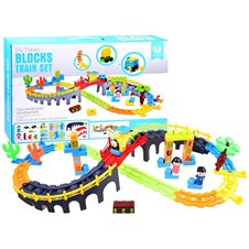 Colorful queue of blocks 48 pieces tracks ZA2890