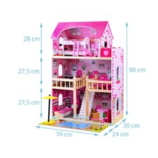 Wooden Dollhouse pool grill ZA0945