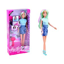 Anlily doll with long hair colored highlights ZA1786