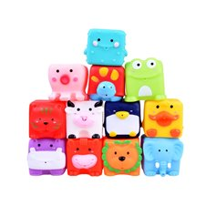 Rubber ANIMALS bath toys 12 pcs ZA2813