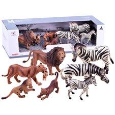 Set of animals SAFARI lion gorilla figurines ZA2987