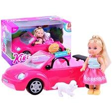 Lėlytė Anlily Kiki su mašina ir aksesuarais  ZA2805