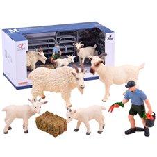 Set of pet figurines Goat Donkey ZA2988