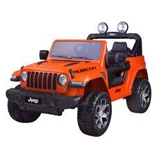 Elektromobilis JK Jeep Wrangler PTP223 Oranžinis