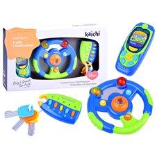 Žaislinis vairas + mobilusis telefonas ir pultelis ZA0151