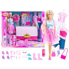 Anlily WARDROBE IN A BAG Set of doll clothes ZA2170