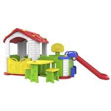 Duży Dom Z Przedsionkiem 5w1 Czerwony Dach