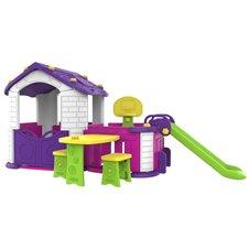 Violetinis žaidimų namelis 5in1