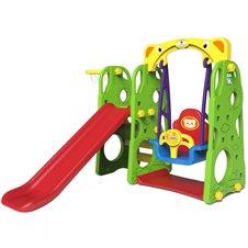 Vaikiška žaidimų aikštelė 3in1 Žalia