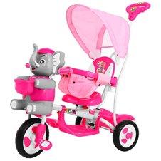 Vaikiškas rožinis triratukas Drambliukas