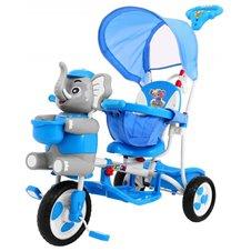 Vaikiškas mėlynas triratukas Drambliukas