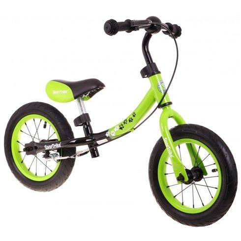 Žalias balansinis dviratukas Boomerang