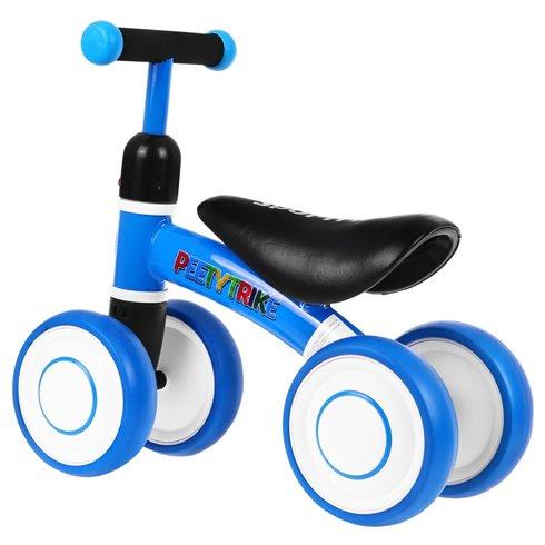 Mėlynas paspiriamas keturratis dviratukas SPORTRIKE PettyTrike Z7