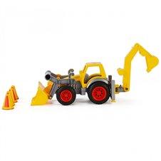 Vaikiškas traktorius su priedais Wader QT ConsTruck