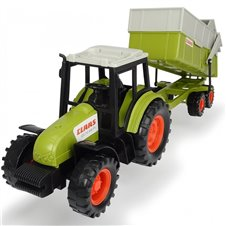 Žaislinis traktorius su priekaba Dickie Farm 36 cm