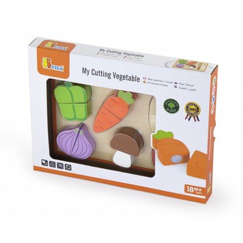 Medinės pjaustomos daržovės Viga Toys