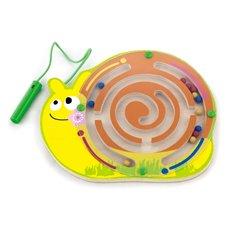 Medinis magnetinis žaidimas labirintas Viga Sraigė