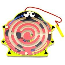 Medinis magnetinis žaidimas labirintas Viga Boružėlė