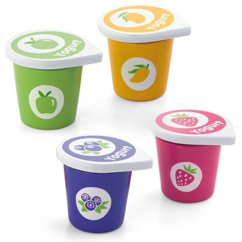 Žaisliniai mediniai jogurtai indeliuose Viga