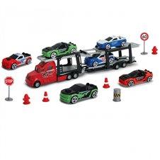 Žaislinis vilkikas su automobiliais DICKIE TIR LAWETA