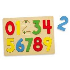 Medinė lenta su skaičiais Viga Toys
