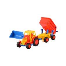 Žaislinis traktorius su priekaba WADER