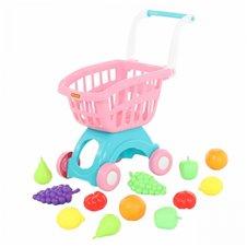 Vaikiškas pirkinių vežimėlis su produktais  Wader QT