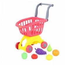 Vaikiškas pirkinių vežimėlis su vaisiais Wader QT