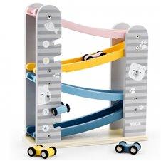 Žaislinių medinių mašinėlių trasa Viga PolarB