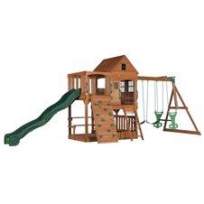 Didelė žaidimų aikštelė su namuku bei sūpynėmis Backyard