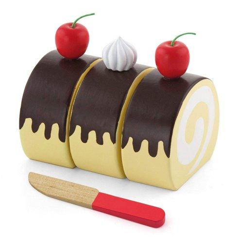Medinis pjaustomas pyragaitis Viga su papuošimais