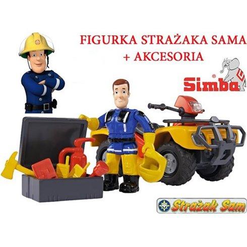 Gaisrininko Samo keturratis su priedais SIMBA Quad