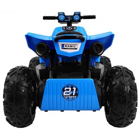 Elektromobilis keturratis RMZ Sport 4x4 Mėlynas